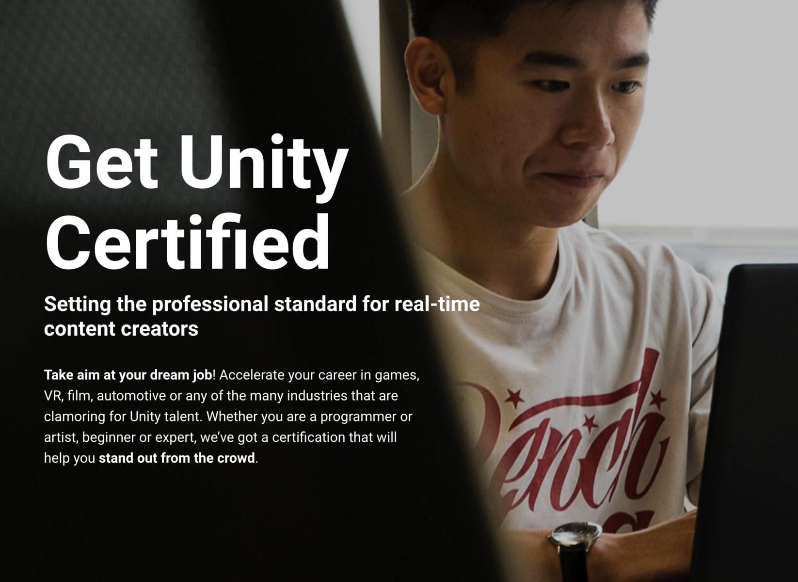 Get Unity Certified Thinkedu Corporate Website